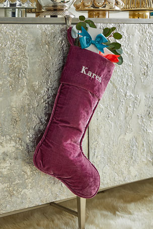 "D. Stevens 23"" Velvet Stocking, French Lavender"
