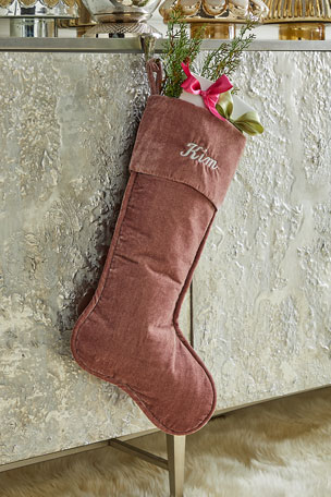 "D. Stevens 23"" Velvet Stocking, Dusty Mauve"