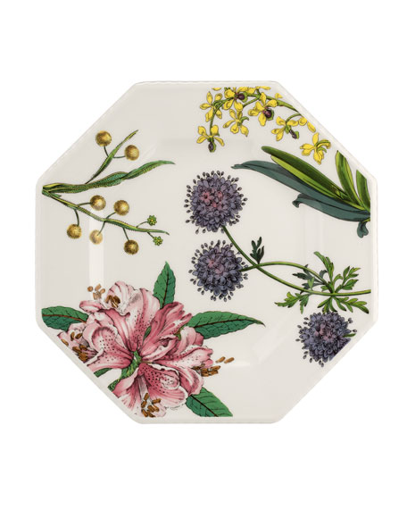 Image 2 of 3: Spode Stafford Blooms Octagonal Plates, Set of 4