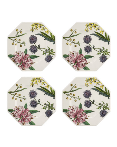 Image 1 of 3: Spode Stafford Blooms Octagonal Plates, Set of 4