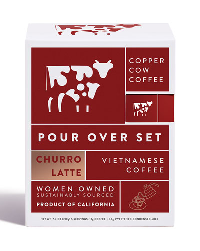 Copper Cow Coffee Churro Latte Kit, 5-Pack