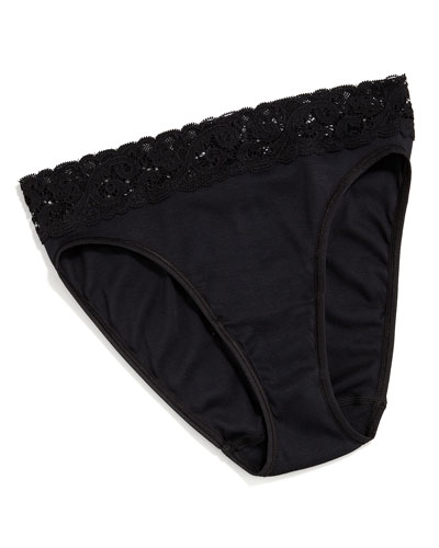 Hanro Moments High-Cut Brief, Black