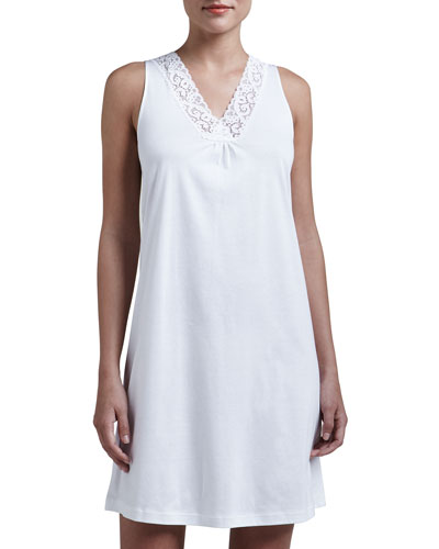 Hanro Moments Tank Gown, White