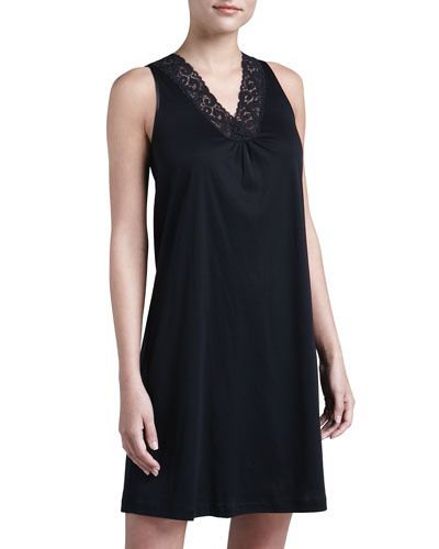 Hanro Moments Tank Gown, Black