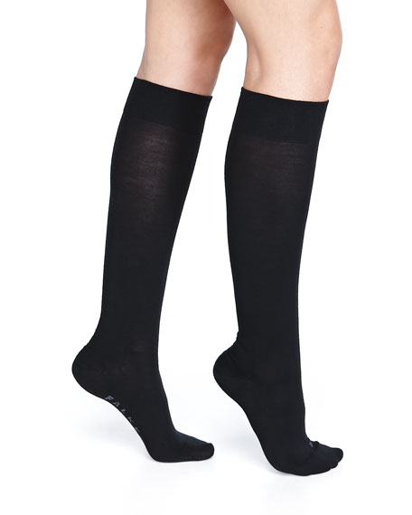 Textured-Band Knee Sock