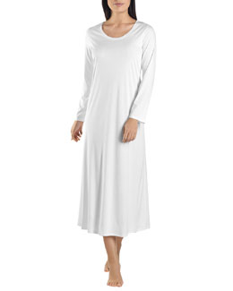 Hanro Long Sleeve Long Gown
