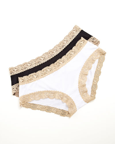 Fleur't Top-Drawer Two-Tone Panties