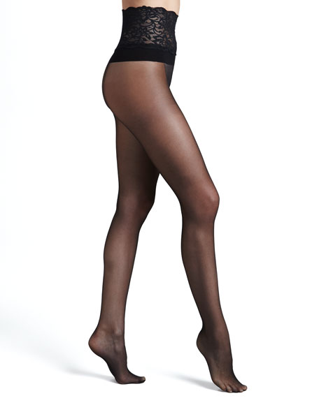 Lace-Waist Premier Sheer Tights