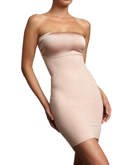 Slimmer & Shine Strapless Slip, Rose Gold