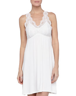 Fleur't Take Me Away Galloon-Lace Tank Chemise