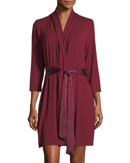 Take Me Away Travel Robe with Silk Inset Belt and Hidden Pockets