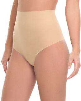 Commando High-Waist Control Thong, Nude