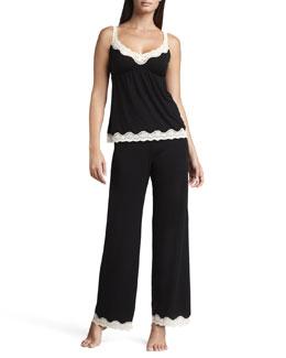 Eberjey Lady Godiva Pants, Black