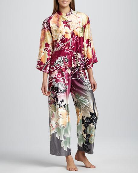 Ming Floral-Print Pajamas, Dhalia