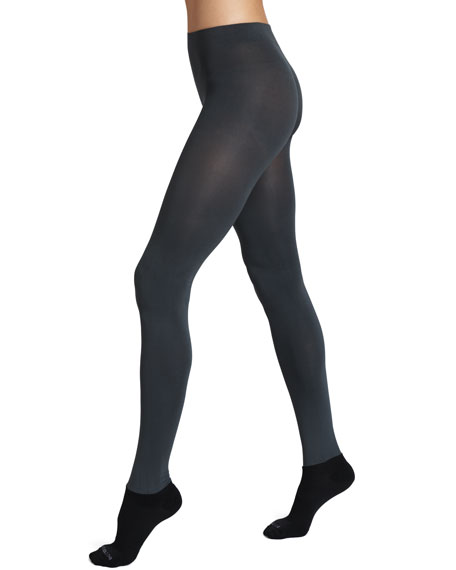 Luxe Semi-Opaque Tights, Gray