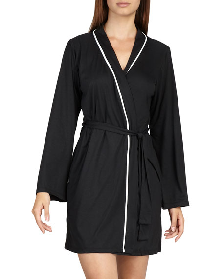Bella Jersey Robe, Black