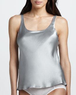 Josie Natori Silk Camisole, Silver
