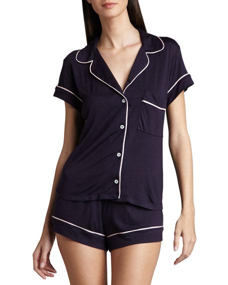 Gisele Short Pajamas, Eggplant/Pink