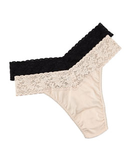 Hanky Panky Original-Rise Organic Cotton Thong, Basic Colors