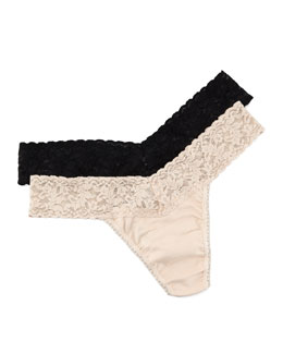Hanky Panky Low Rise Organic Cotton Thong, Basic Colors