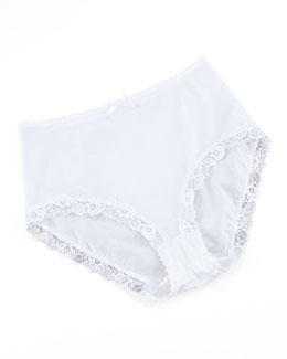 Hanro Valerie Lace-Trim Briefs, White