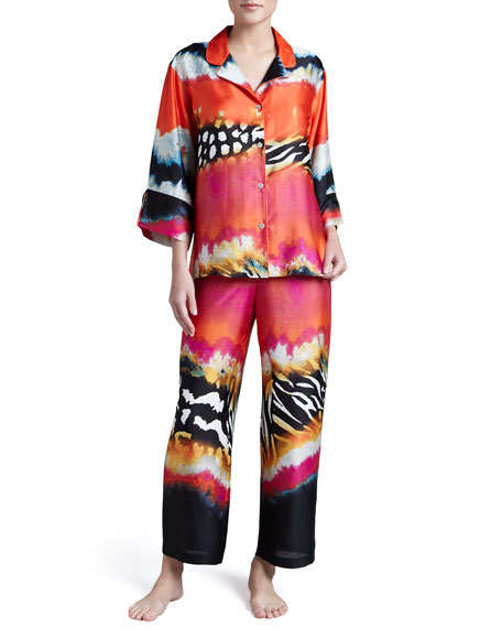 Mayon Printed Charmeuse Pajamas