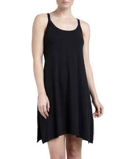Donna Karan Whisper Cotton Gown, Black, Short