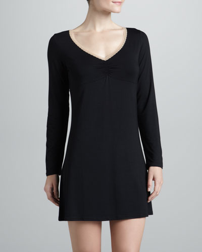 La Perla Rosa Long-Sleeve Night Dress