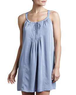 Donna Karan Matte Satin Short Nightgown