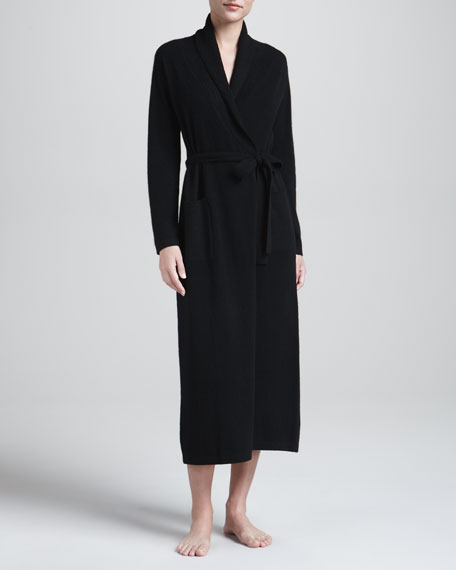 Cashmere Robe, Black