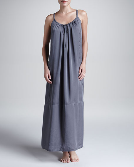 Laundered Satin Tank Gown, Mineral