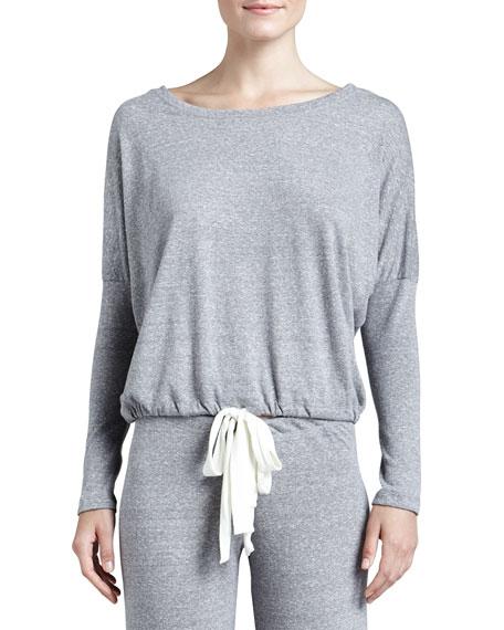 Winter Heather Slouchy Long Sleeve Sweatshirt, Gray Heather