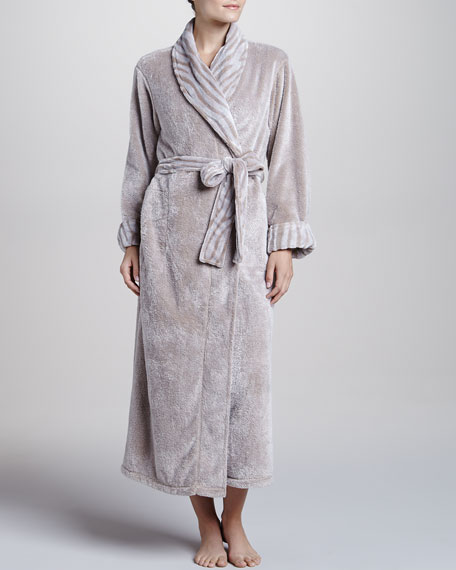 Chinchilla-Patterned Robe, Cashmere-Color