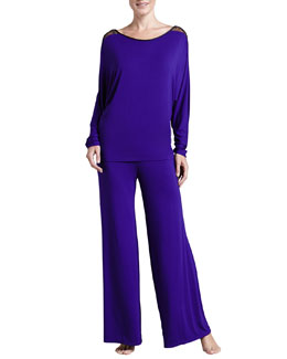 Fleur't All I Want Is You Dolman-Sleeve Pajama Set