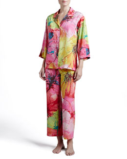 Natori Gala Notch Satin Pajamas