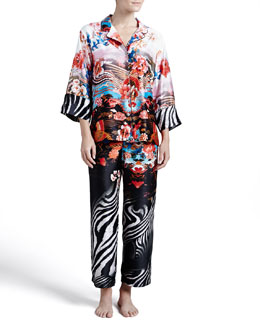Natori Xianado Notched Pajamas