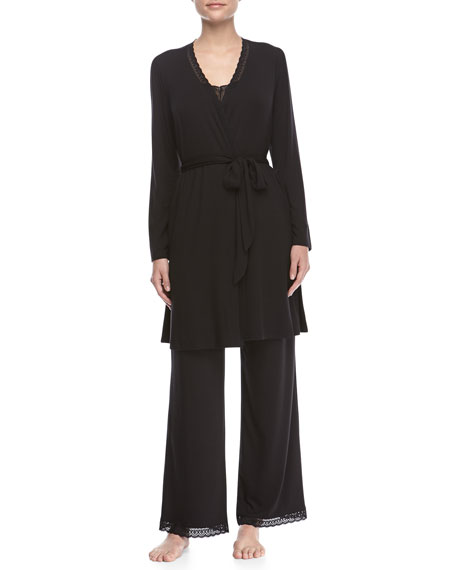 Eberjey Gisele Long-Sleeve Robe