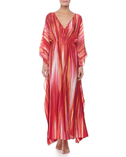 Natori Hayworth Long Caftan, Azalea