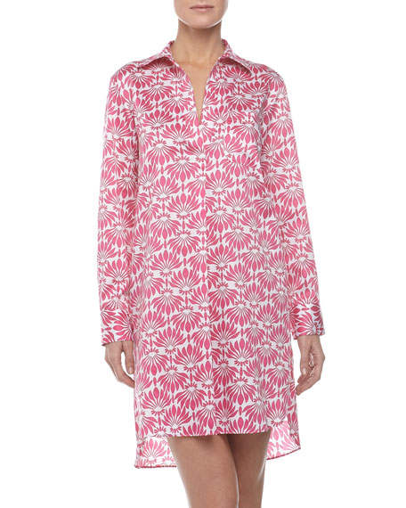 Fleur Shirt Tunic, Azalea Pink