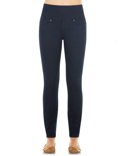 Firming Denim Leggings, Indigo Wash