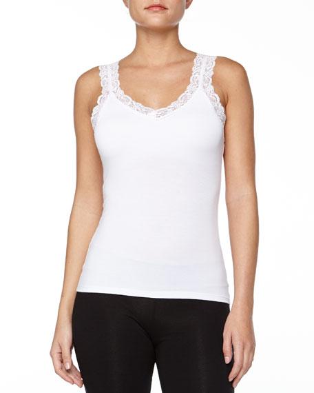 Fleur't Bottom Drawer Lace Strap Camisole with Shelf Bra