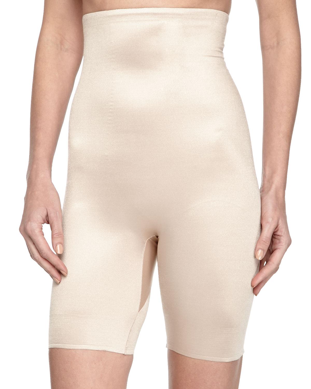 Tc fine intimates High-waist Mid-thigh Shaper in Black | Lyst