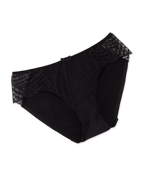 Chantelle Illusion Lace Sides Bikini Briefs, Black