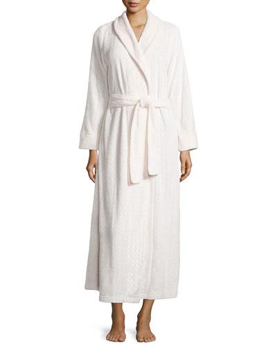 Long Plush Comfort Robe, Oyster