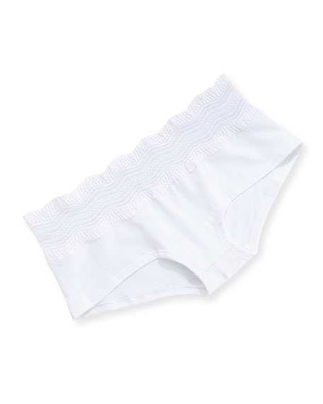 Cosabella Dolce Vita Cotton Boyshorts, White