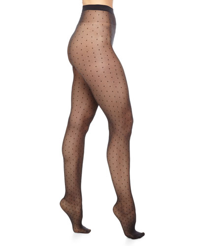 Daria Dot-Pattern Sheer Tights