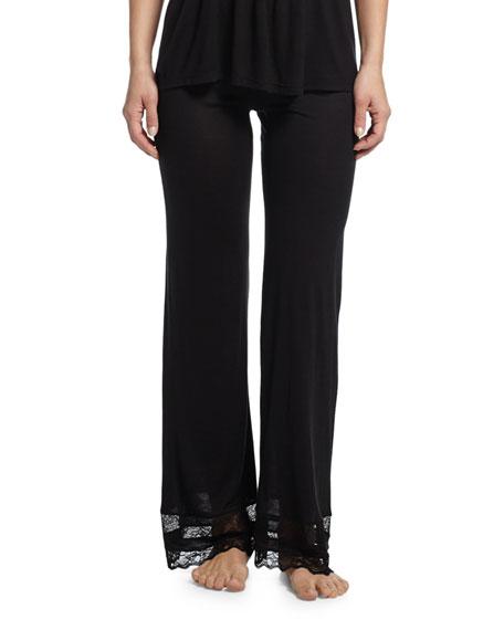 Eberjey Georgette Classic Lounge Pants, Black