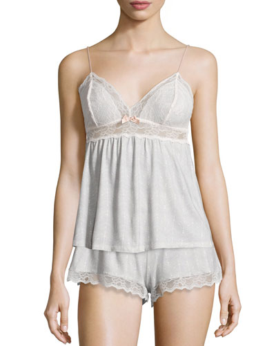 Eberjey Secret Attic Lace Lounge Camisole, Earl Gray