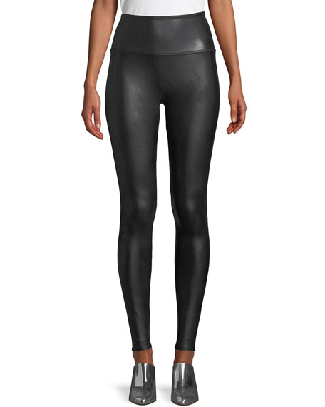 Spanx Ready-to-Wow?? Faux-Leather Leggings, Black