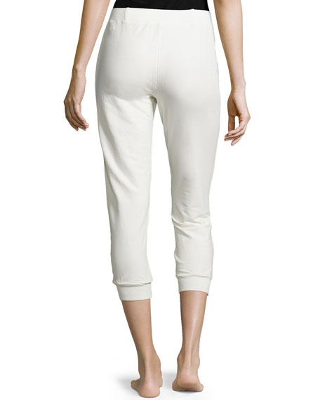 Cropped Lounge Pants, Hemp White
